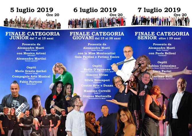 """Programma 22° Festival Voci d'Oro """"50anni & Dintorni"""" 2019"""