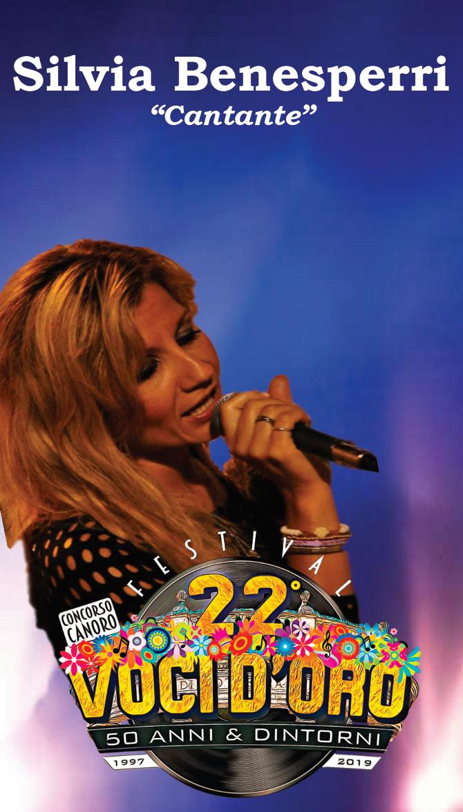Silvia Benesperi Ospite e giudice del 22° Festival Voci d'Oro 2019