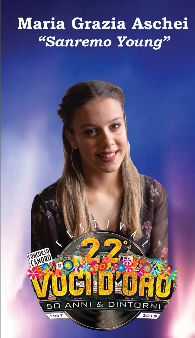 Maria Grazia Aschei ospite al 22° Festival voci d'oro 2019