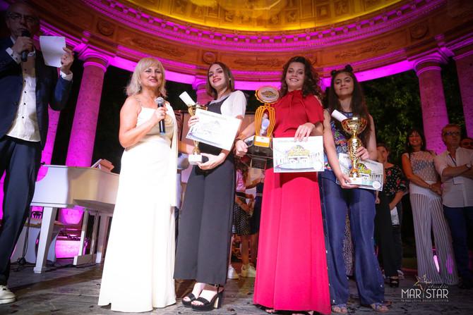 I primi tre classificati Junior del Festival Voci d'Oro