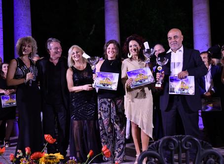 Il podio interpreti senior 22° Festival Voci d'Oro 2019.
