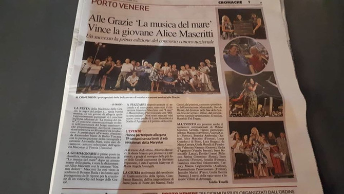 """Uscito in Liguria grande articolo """"La Musica del Mare"""""""