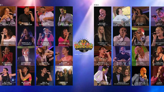 I cantanti del Cd Compilation Voci d'Oro 2019