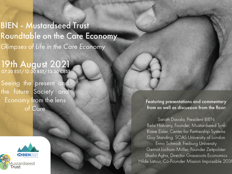 BIEN 2021 Global Conference 18th-21st August 2021- join our roundtable