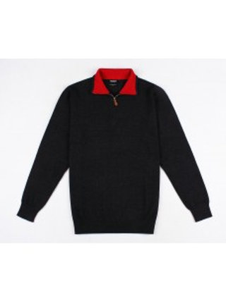 """PULL """"Cachemire Touch"""" ref: CHARLY NAVY/ROUGE"""