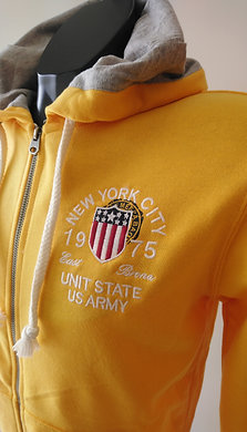 SWEAT-SHIRT capuche réf : 7579 yellow