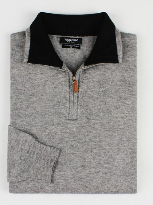 """PULL """"Cachemire Touch"""" ref: CHARLY GRIS/NOIR"""