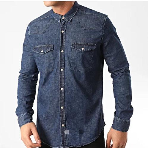 Chemise jeans cintrée réf : JCH804
