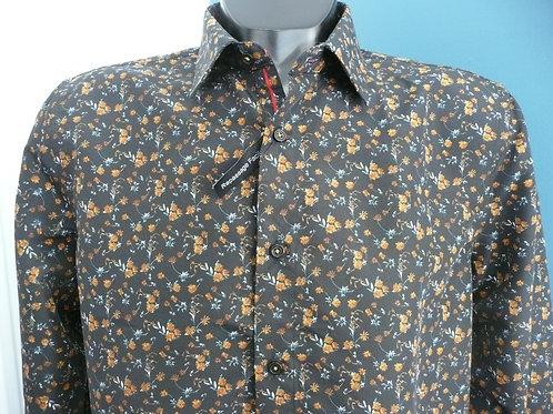 chemise noir fleur ref: 5279-4