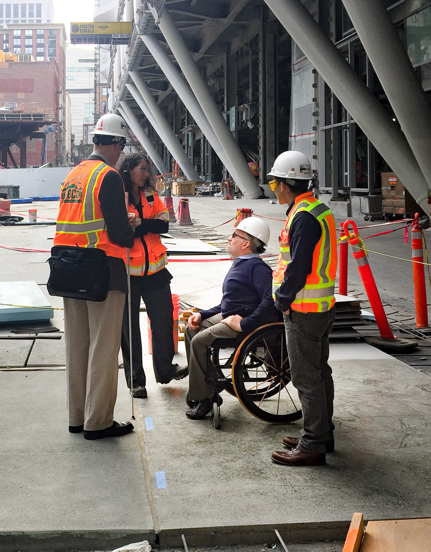 Erick Mikiten and Chris Downey at the SF Transbay Terminal