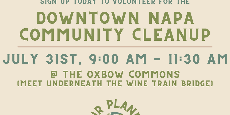 Downtown Napa Community Cleanup