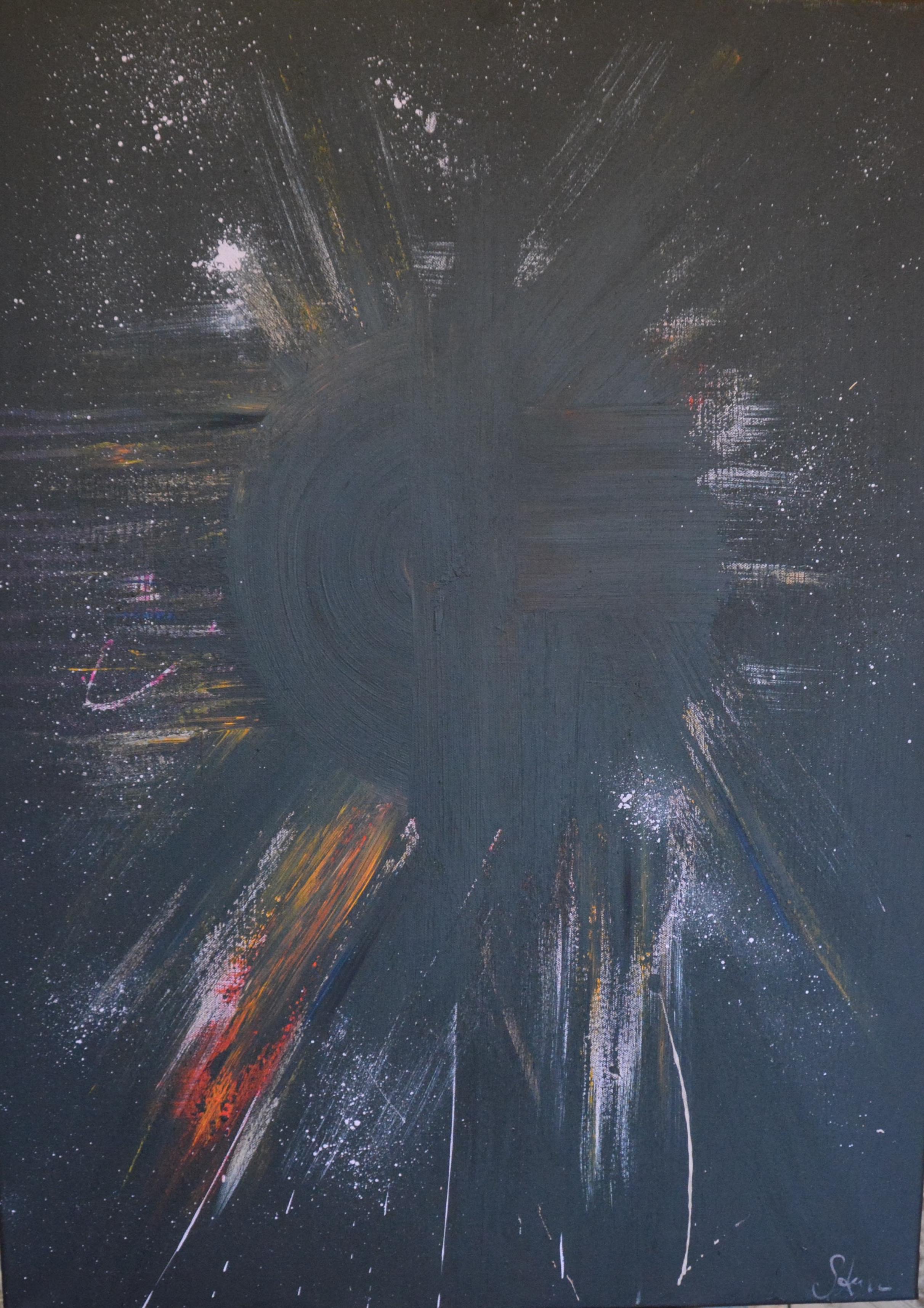 'Black Sun' A1 Acrylic on canvas