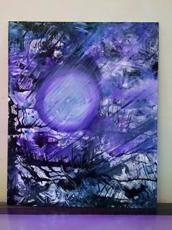 Tangle-Mixed Media on Canvas board