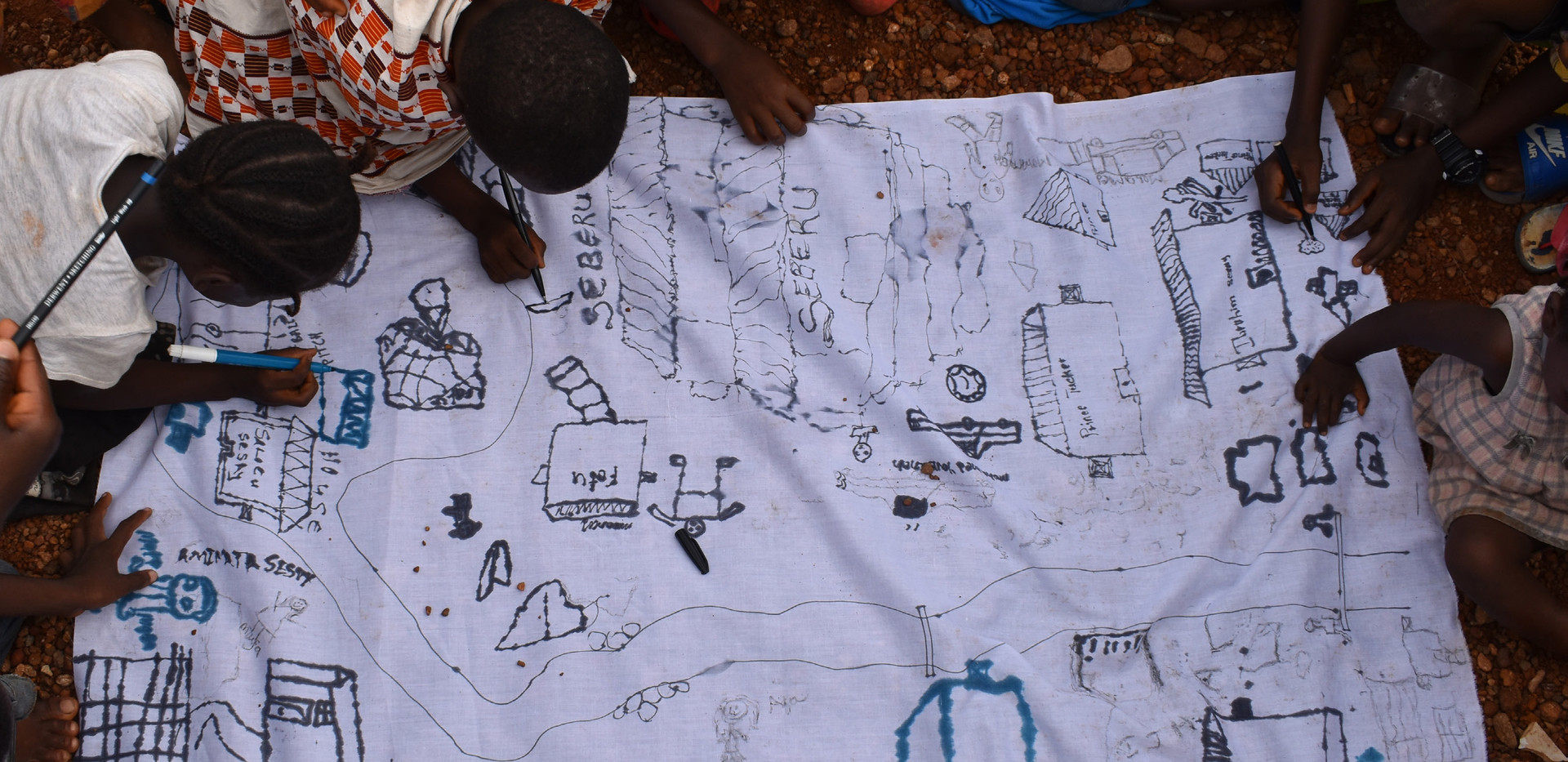 Children Mapping Workshop, Kaningo