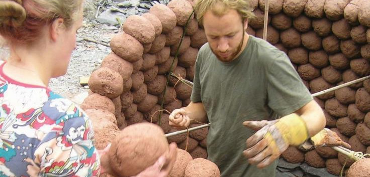Making a Clay Oven