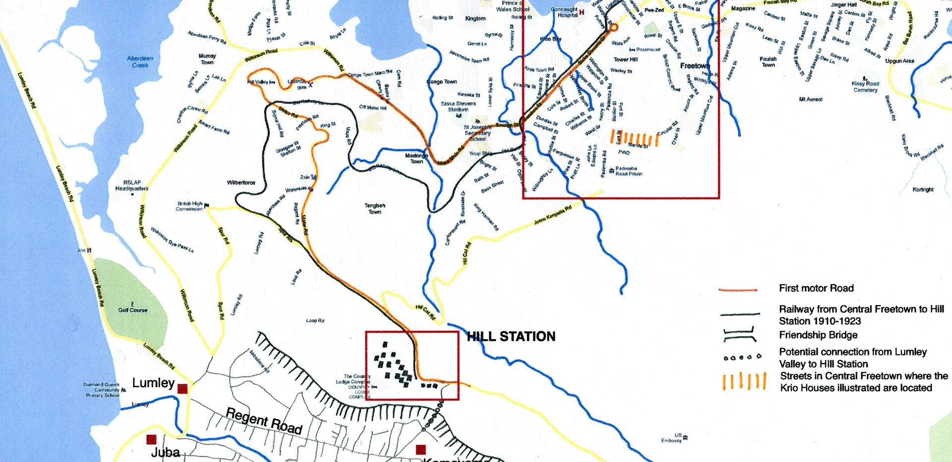 Map of Freetown & Lumley