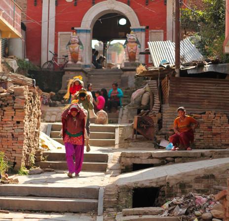 Steps into Bungamati, Kathmandu