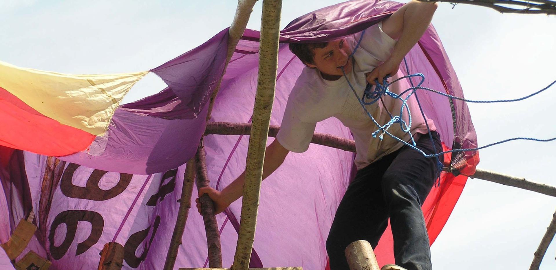 Parachute Silk Roof