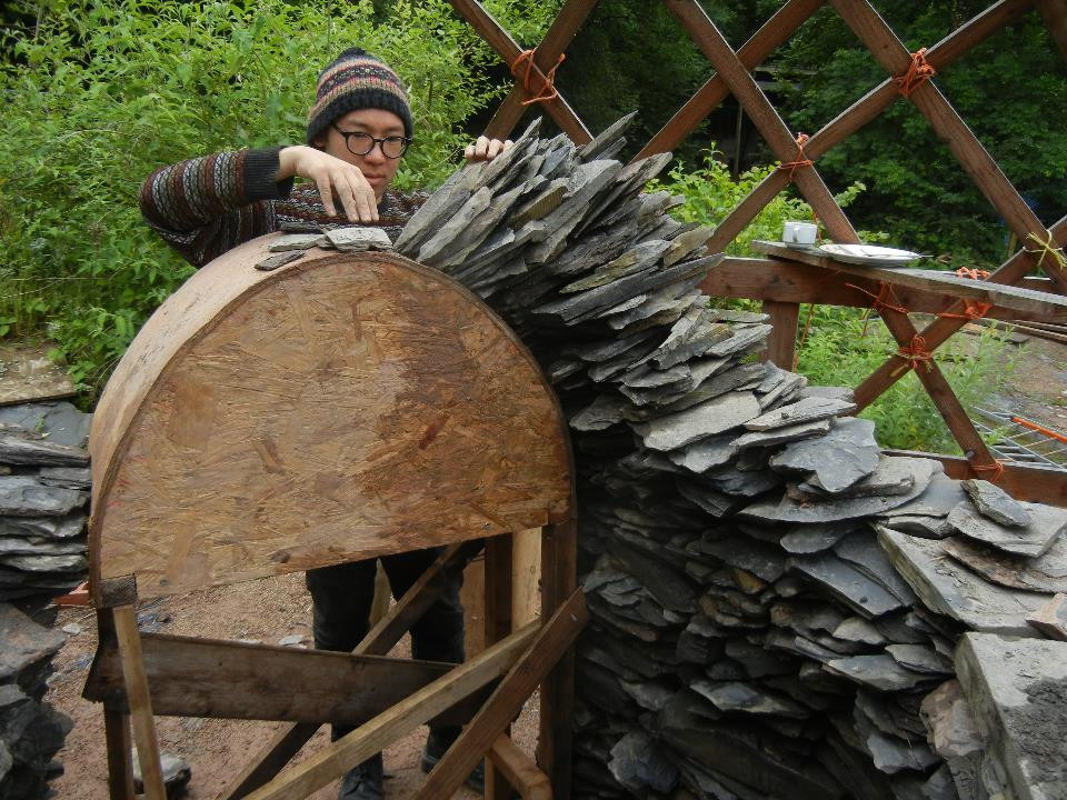 Constructing a Slate Arch