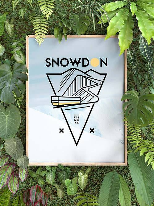 SNOWDON PRINT - A4 OR A3 (NO FRAME INCLUDED)