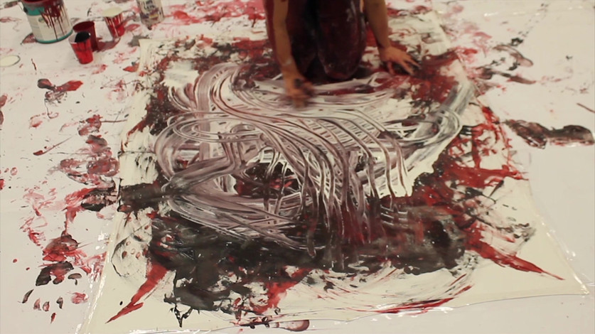 Painting with my body (extract), 2016