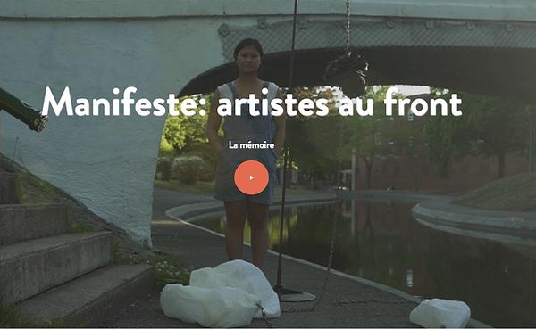 Manifeste : artistes au front/ La Mémoire