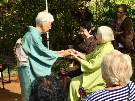 Chanoyu Demonstration Miami Beach Botanical Garden