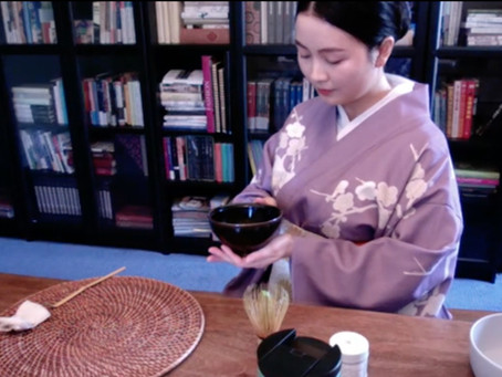 Penn State Chanoyu Club virtual demonstration 「Tea Ceremony at Home」