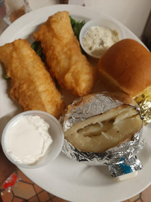 Cod and Baked Potato
