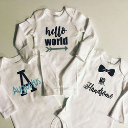 Personalized onesies for any occasion...