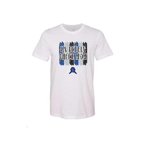 US Rebels Cheer Glitter Shirt