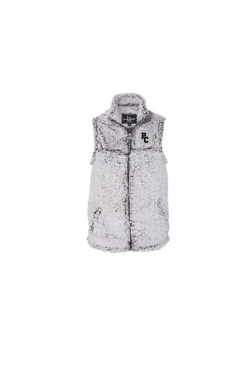 Full zip Frosty Grey Sherpa Vest