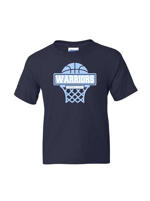 Navy Short Sleeve Warriors Tee