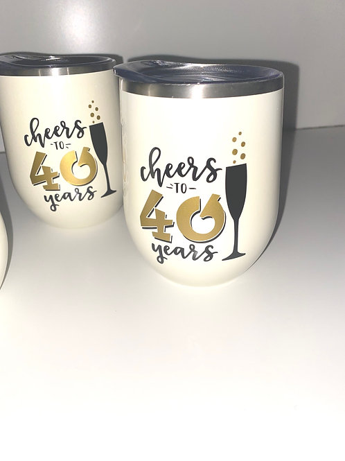Cheers to 40 Years stemless tumbler