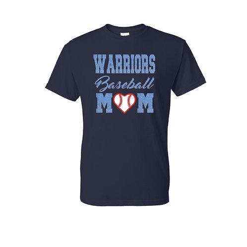 Warriors Mom Baseball T-shirt