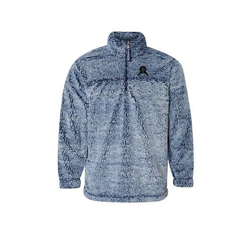 1/4 Zip Blue Sherpa