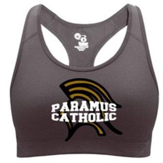 Charcoal Paramus Catholic Sports Bra