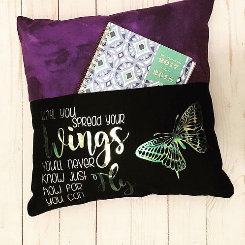 16x16 Reading Pocket Pillow