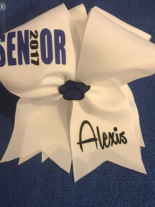 Senior White Bow