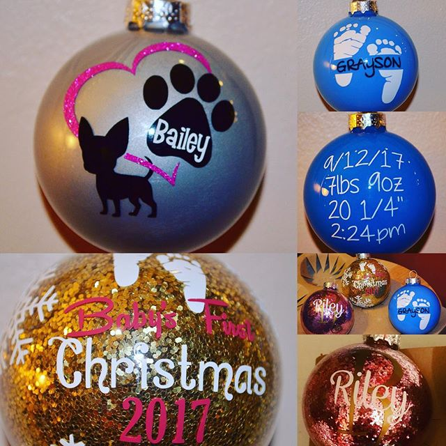 Personalized ornaments!  Give the perfec