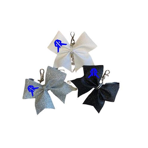 Glitter Cheer Bow Keychain