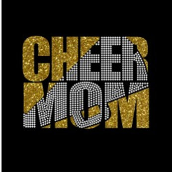 Cheer Mom Glitter/Bling Shirt