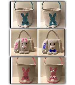 Personalized Easter baskets..