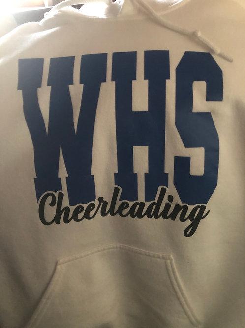 White Cheerleading Hooded Sweatshirt