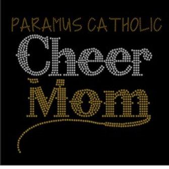 Paramus Catholic Cheer Mom Bling Shirt
