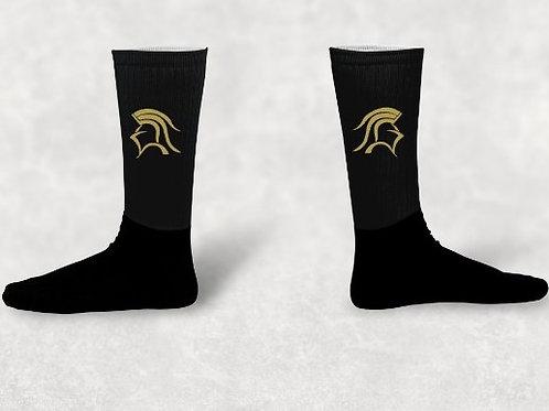 Black Knee High Athletic Socks