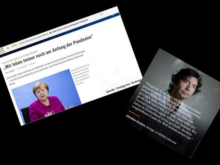 Merkel, Drosten! Hört auf, zu lügen! Wie sie uns mit Wörtern manipulieren.