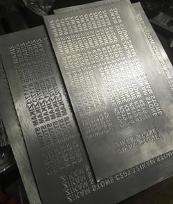 Шильды для маркировки силиконовых форм