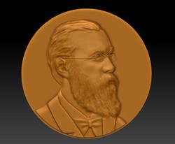 Барельеф портрета для медали