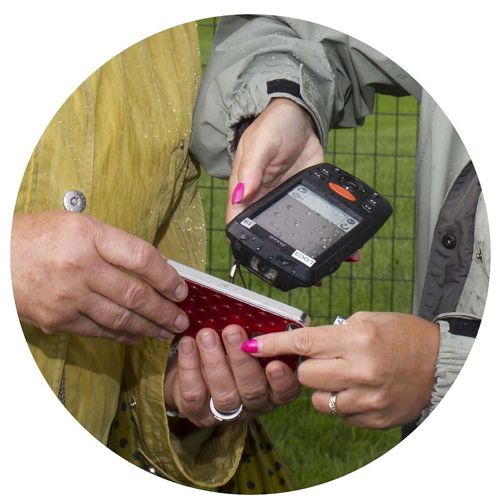 Scan QR code ticket on smartphone